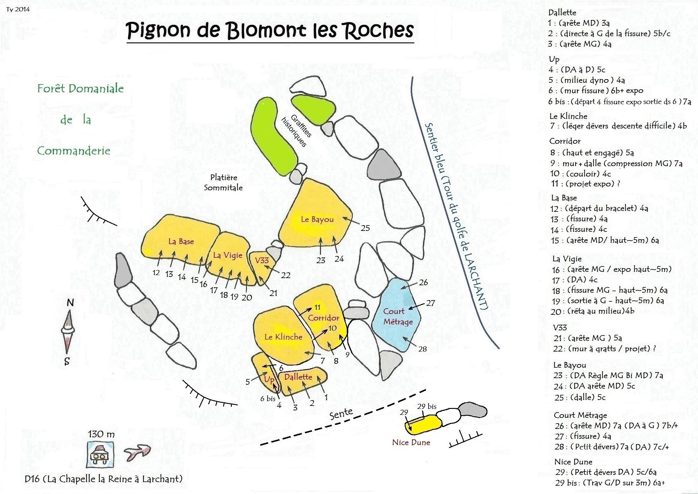 Topo Blomont les Roches