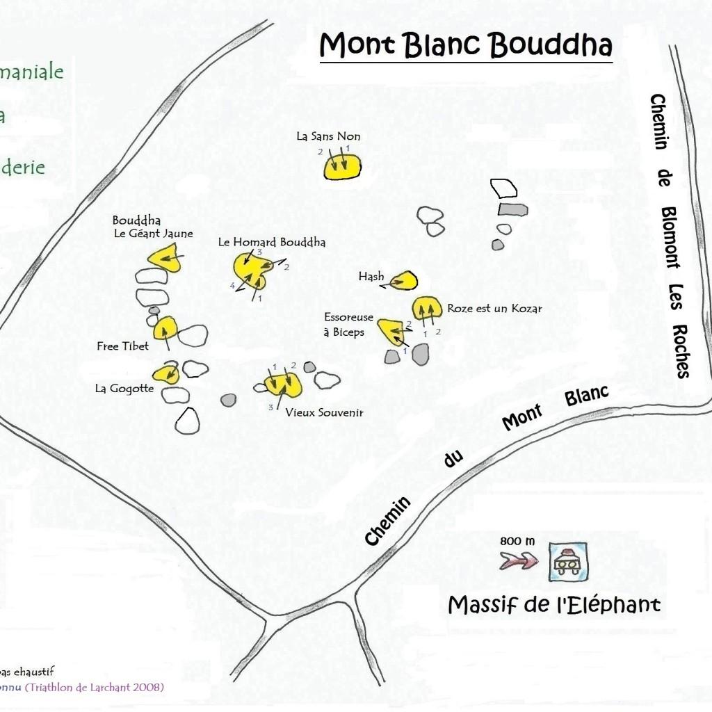 Topo Mont Blanc Bouddha